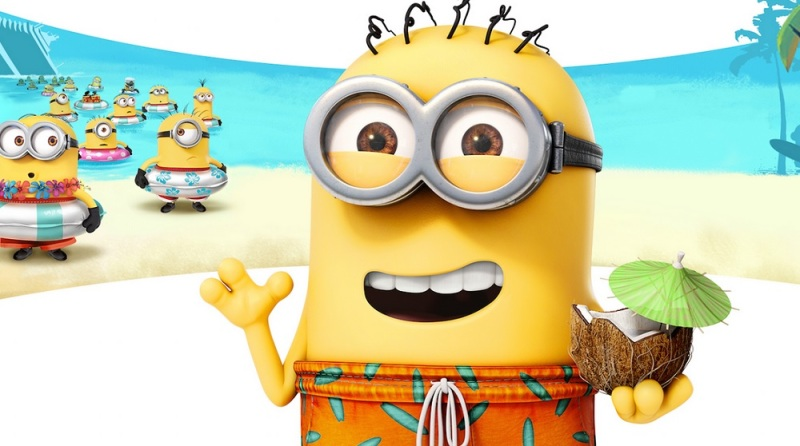 Phil, the star of Minions Paradise, makes a theme park on his island.