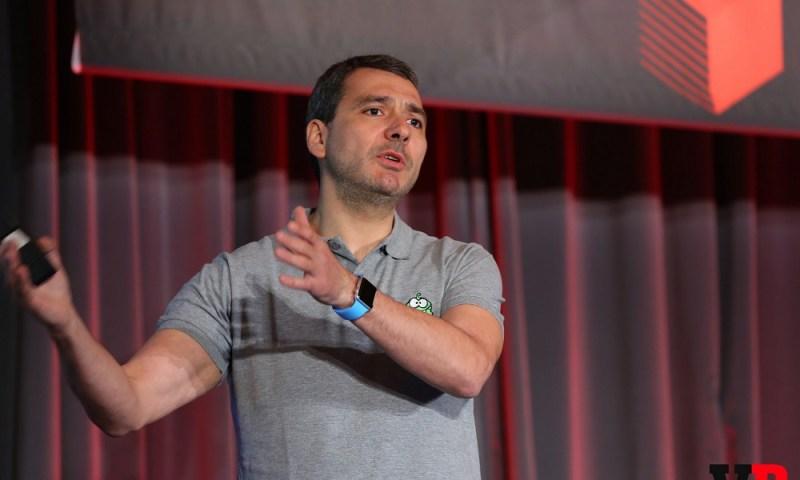 Misha Lyalin, CEO of ZeptoLab, at GamesBeat Summit.