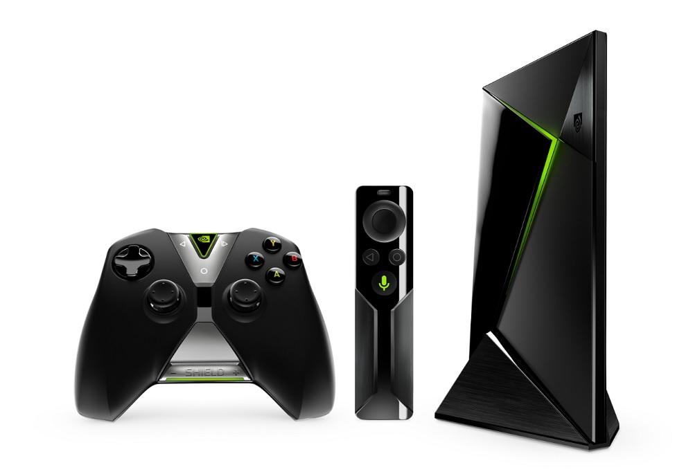 Nvidia Shield set-top box, Shield remote control, and Shield Controller