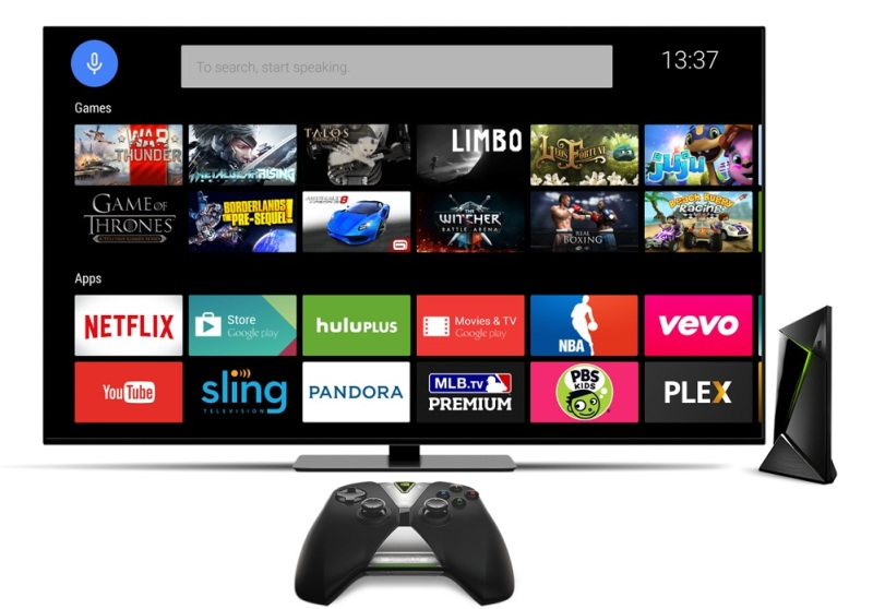 Shield set-top box games and apps.