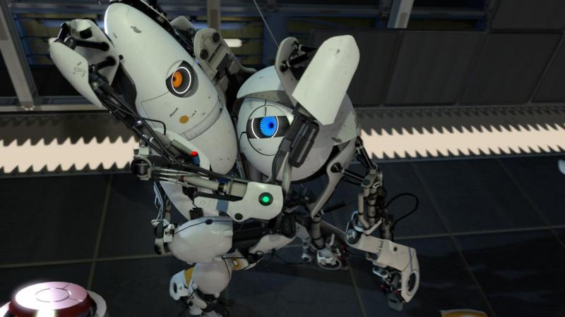Robots from Portal in VR