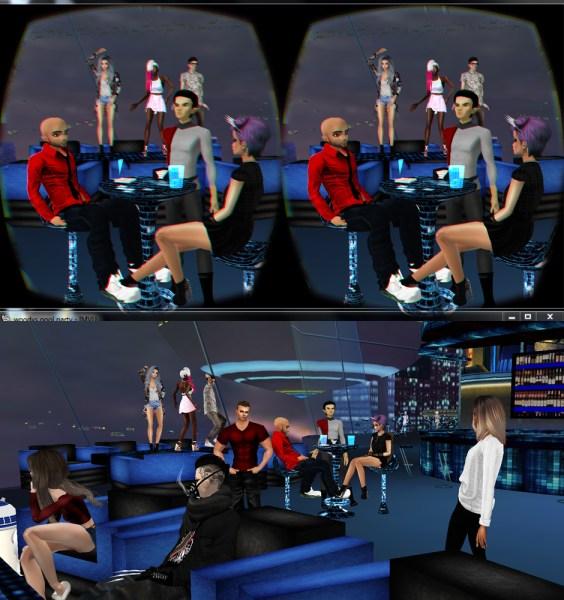 IMVU, viewed stereoscopically through a VR headset.