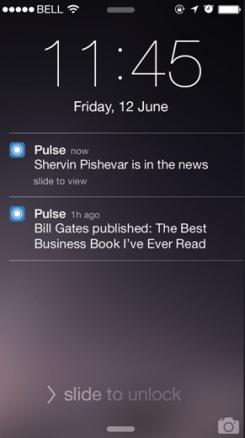 LinkedIn Pulse: Alerts