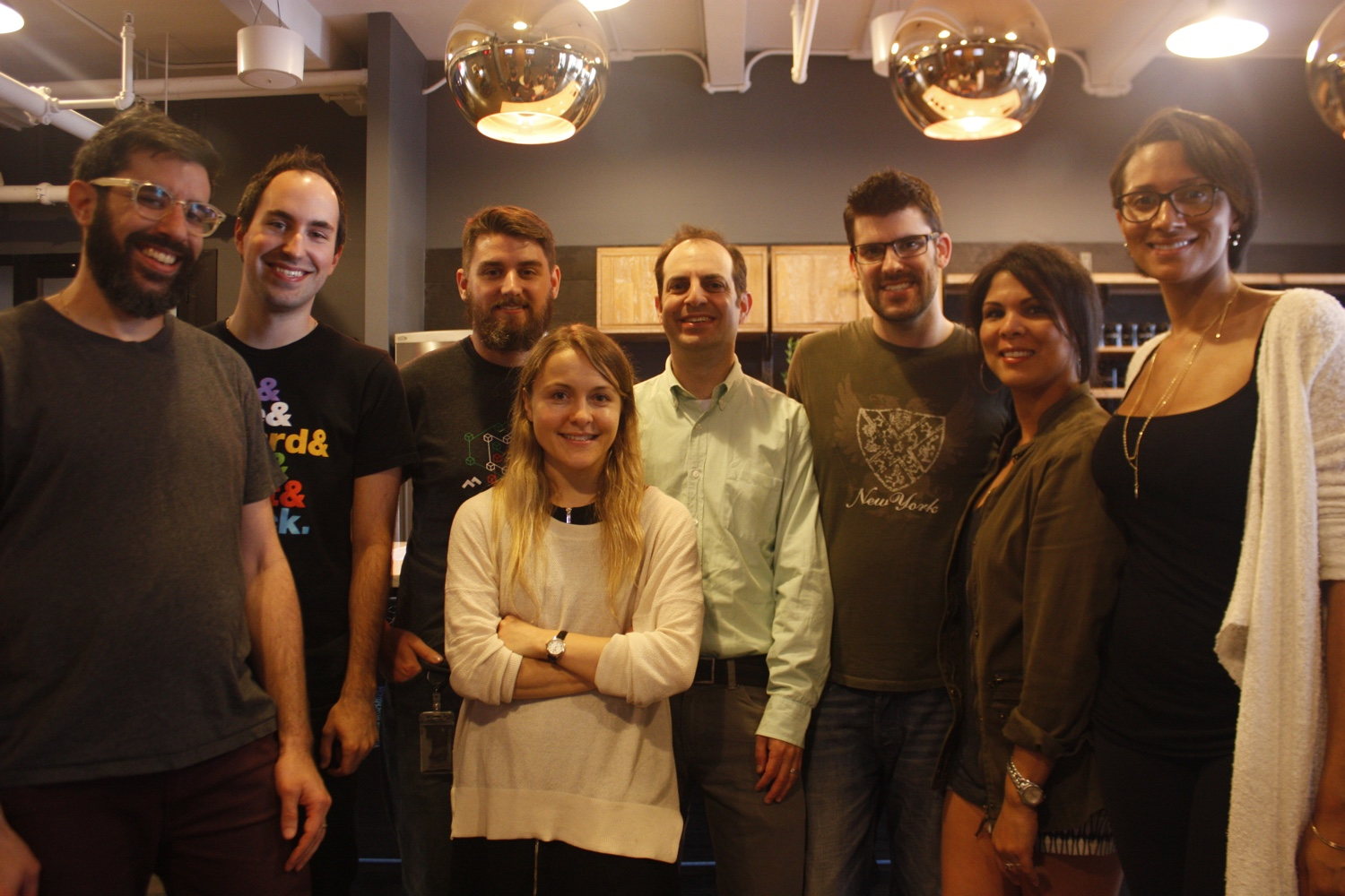 The Code Climate team. Helmkamp is third from right.