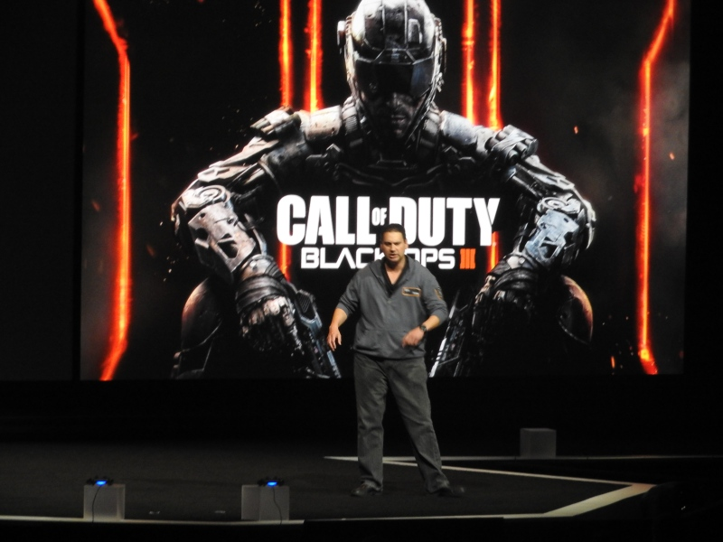 Mark Lamia of Activision's Treyarch talks at Sony E3 event.