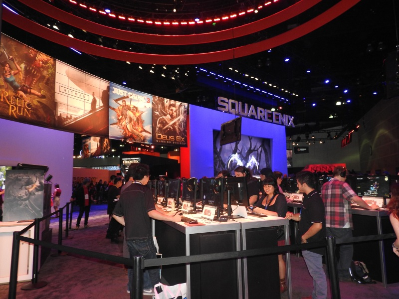 Square Enix booth at E3 2015