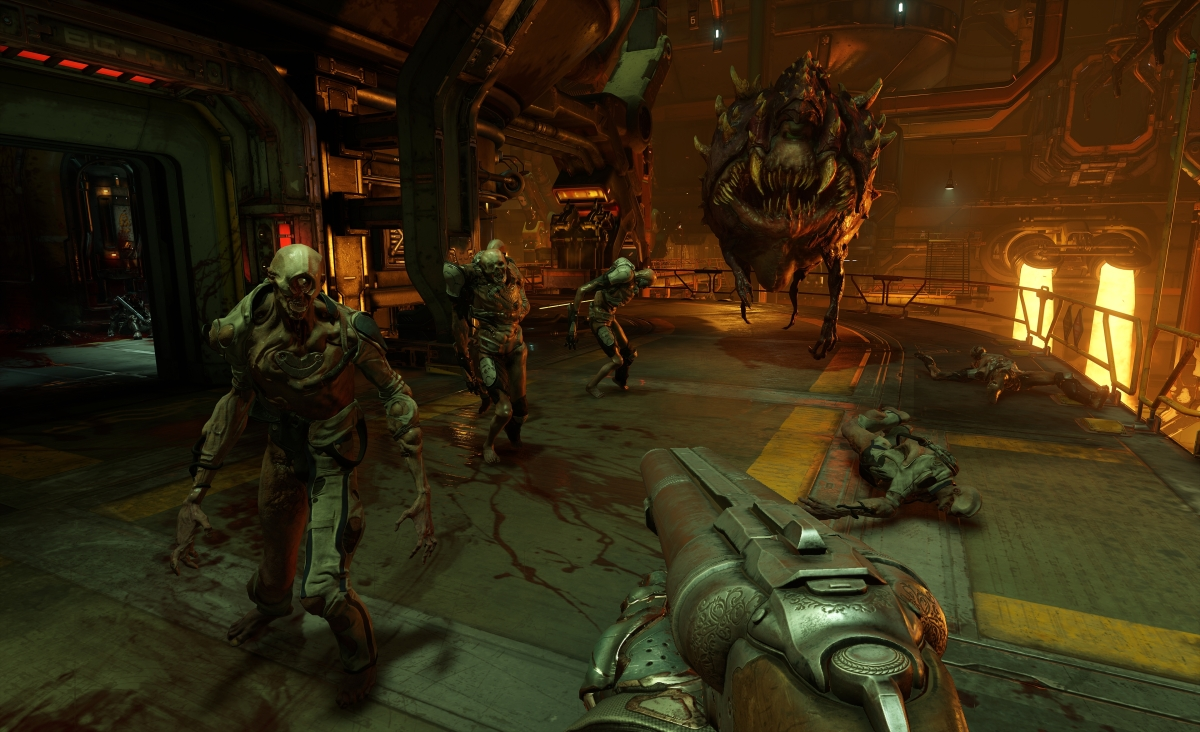 Doom has us shooting demons like it's 1993 and loving it