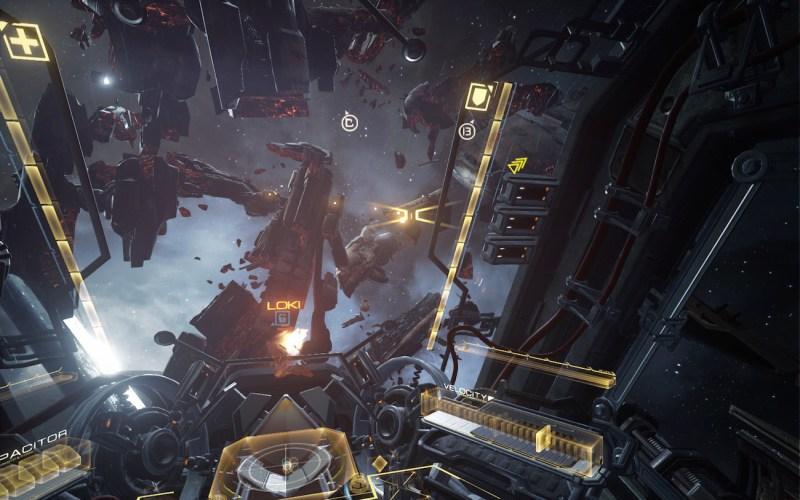 E3 2015: Eve Valkyrie ship graveyard
