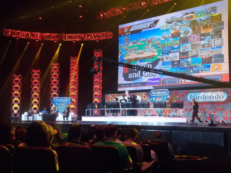 It's funny that the new Nintendo World Championships took place inside of the Microsoft Theatre.