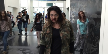 E3 2015's most memorable sights: bloody fountains, huge statues, and zombies