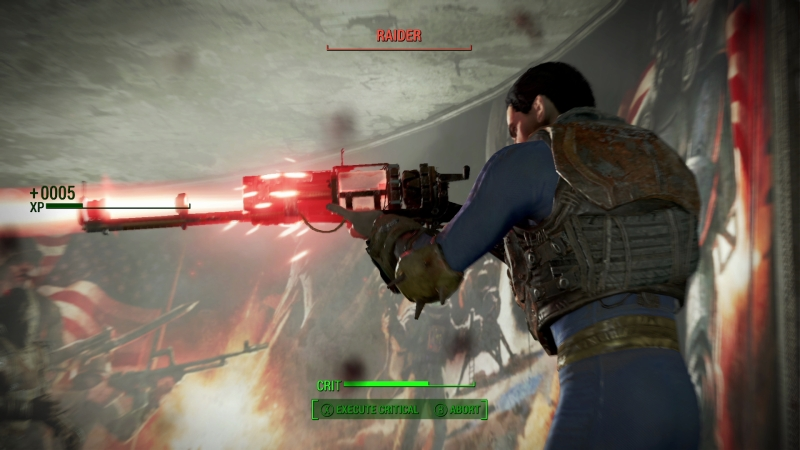 Fallout 4 has a laser gun that you crank.
