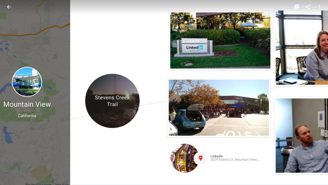 The story Google Photos made of a trip I took to LinkedIn headquarters a few months ago.
