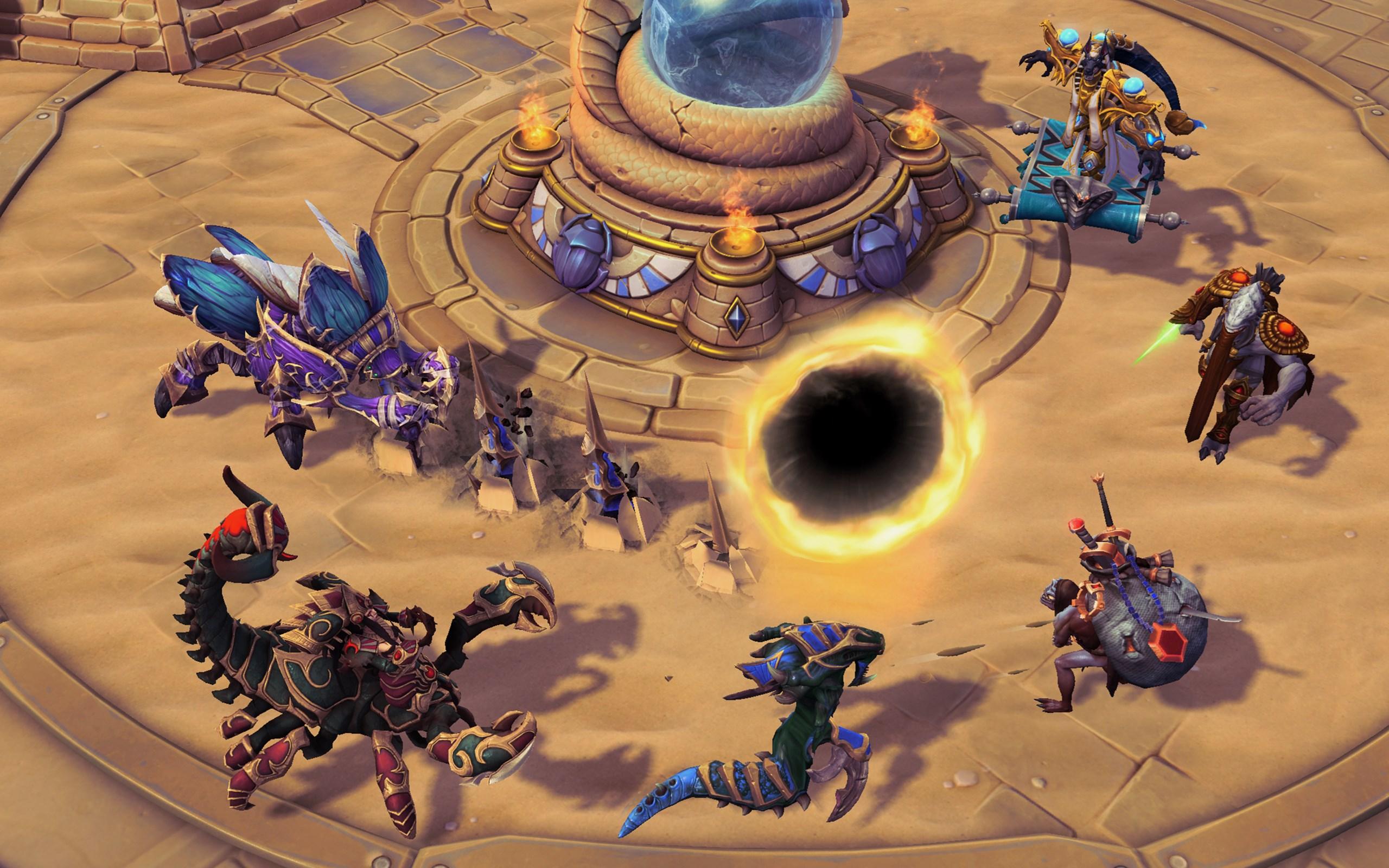 Everybody dance around the portal.