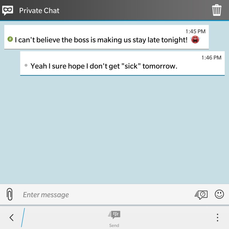 Private Chat (BBM)