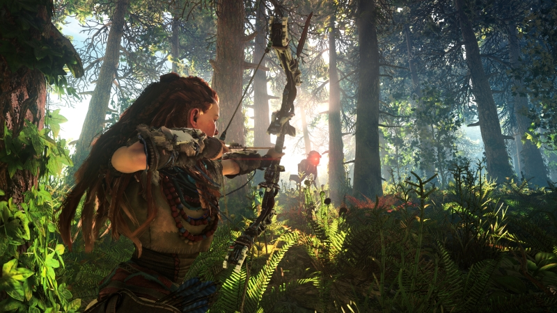 Horizon Zero Dawn E3 2015 - Aloy hunting