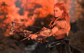 Aloy gets to explore a detailed world, especially in 4K.