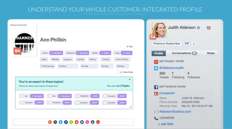 Lithium's new Integrated Profile, now with Klout