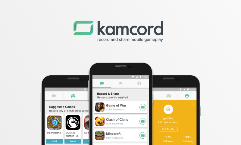 Kamcord's Android app makes it possible to record any game on your smartphone or tablet.