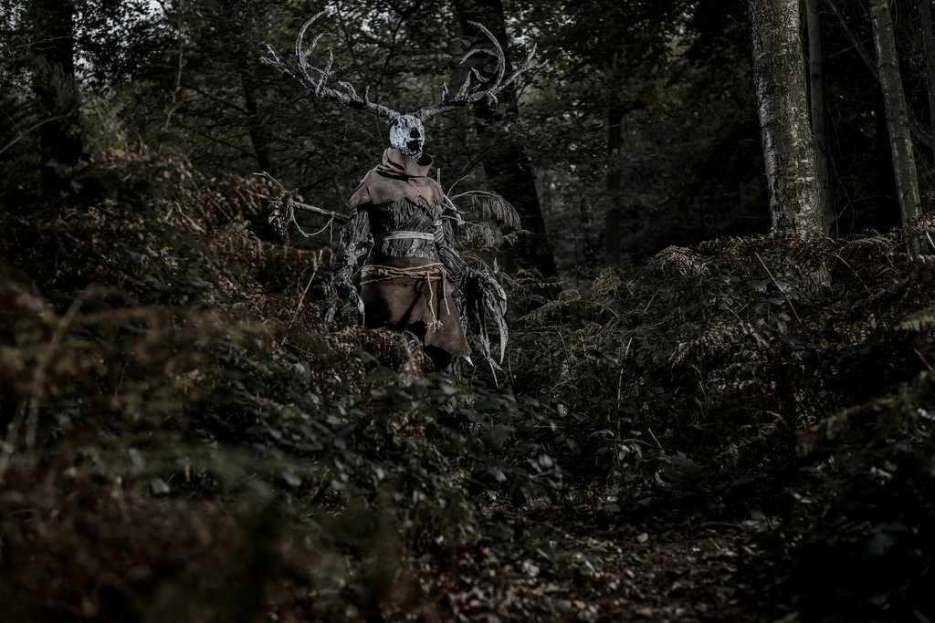 Leshen emerging from the forest.