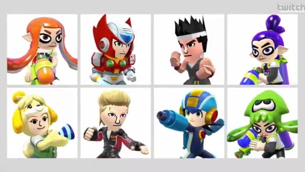 Super Smash Bros. Mii Fighter Costumes