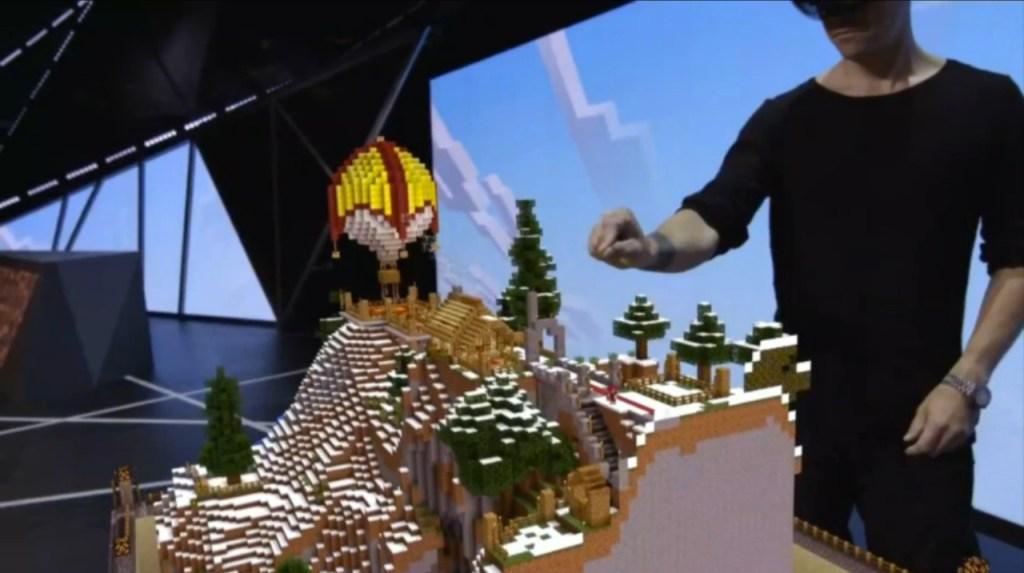 Minecraft Hololens E3 2015