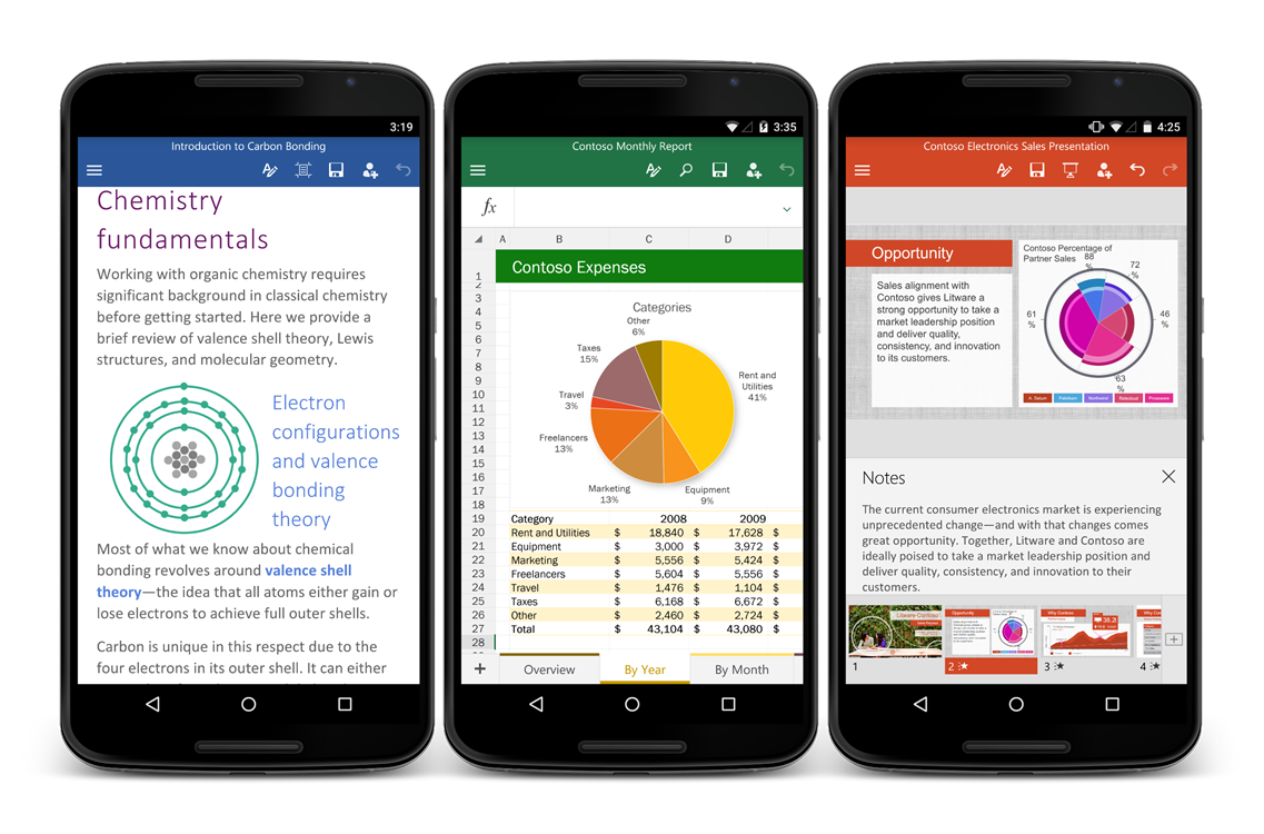 Microsoft Releases Word, Excel, And PowerPoint For Android