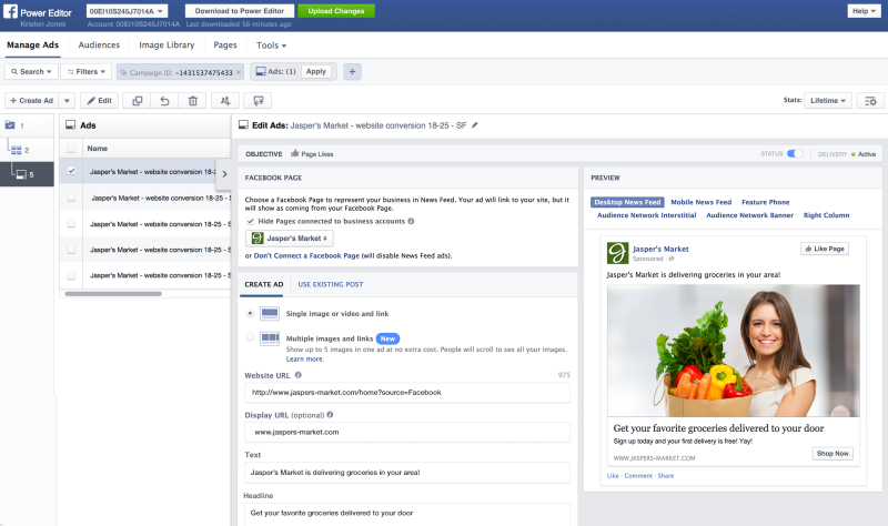 Facebook's improved Power Editor offers better search and batch-editing tools for big advertisers.