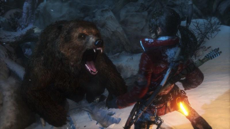 Bear wants Tomb Raider!