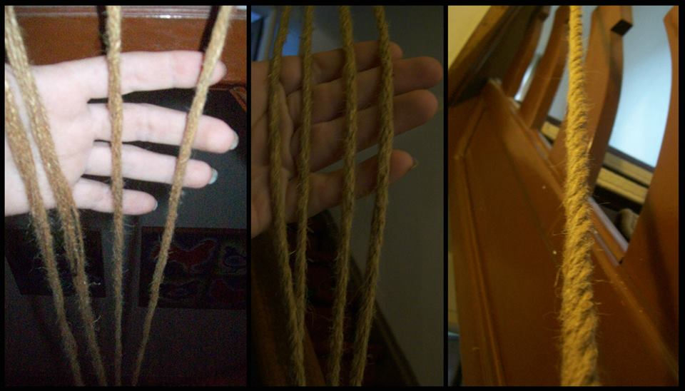 Heikens made her own rope for the Leshen costume.