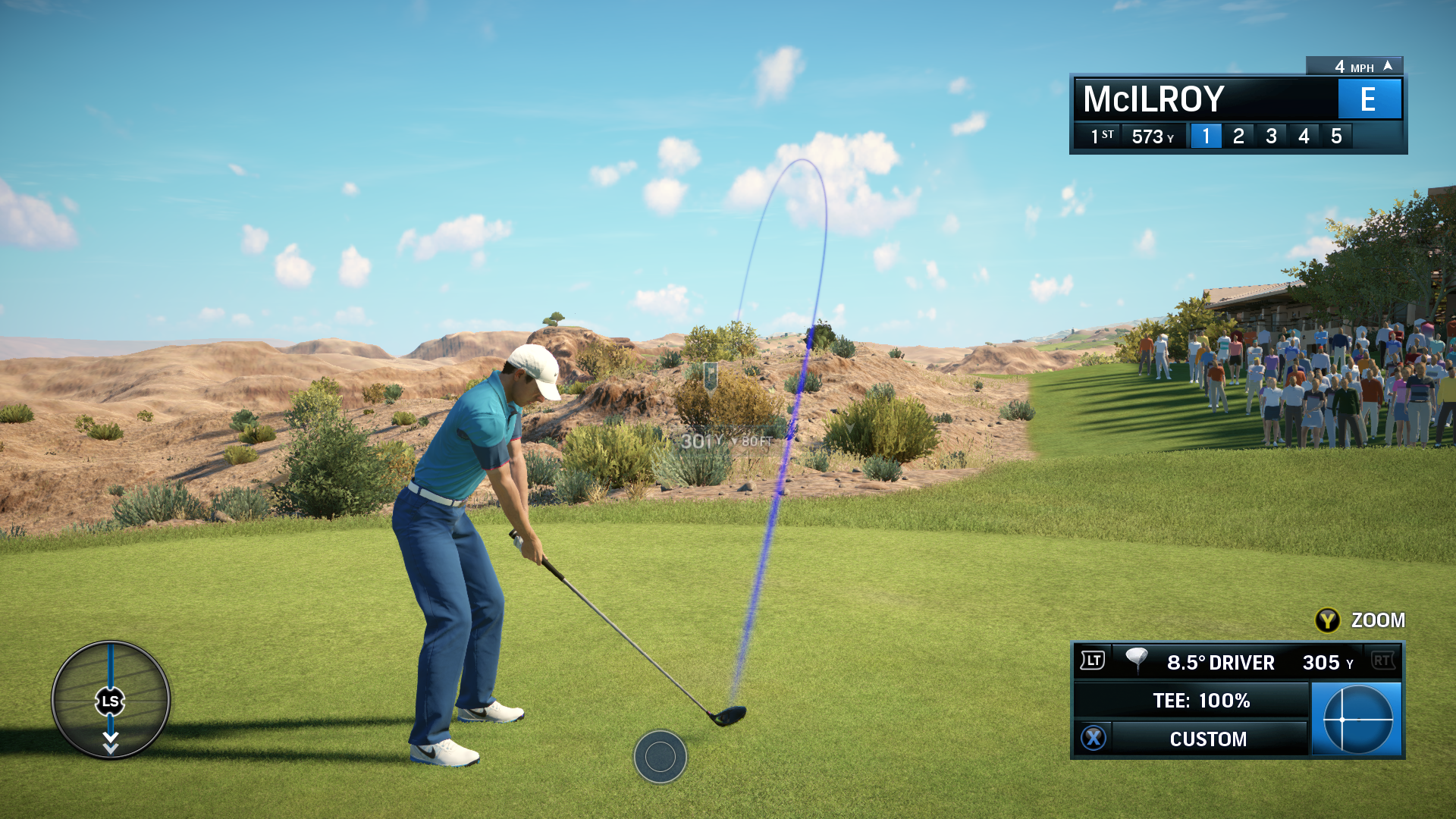 PGA Tour's analog stick swinging takes a bit of getting used to.