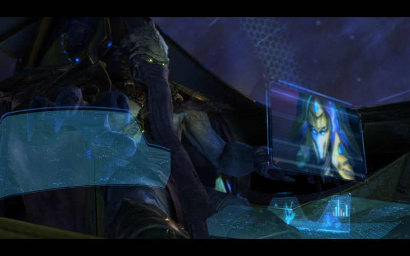Zeratul in prologue for StarCraft II: Legacy of the Void.
