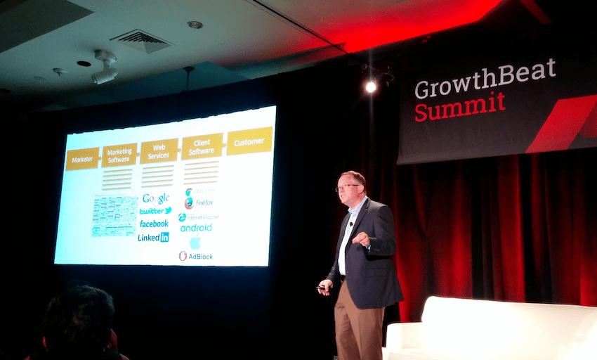 Scott Brinker at VentureBeat's GrowthBeat Summit in Boston.