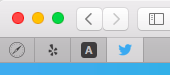 By sliding your open tabs to the left in Safari, you can create these page icons that bookmark the URLs.