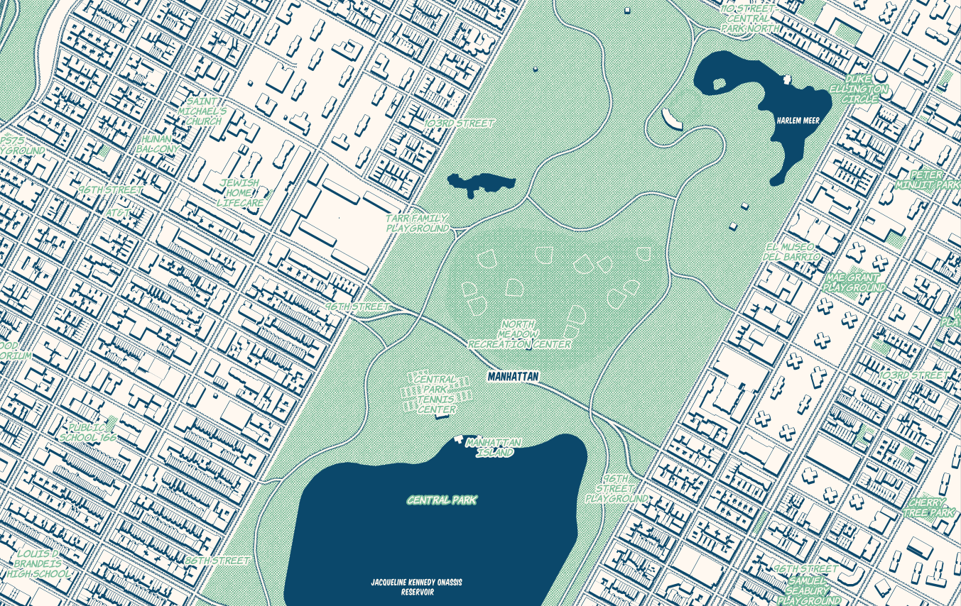 The Comic! map style in Mapbox Studio.