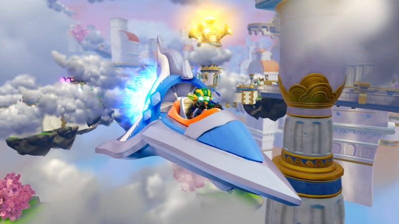 Skylanders SuperChargers has vehicles like this Sky Slicer.