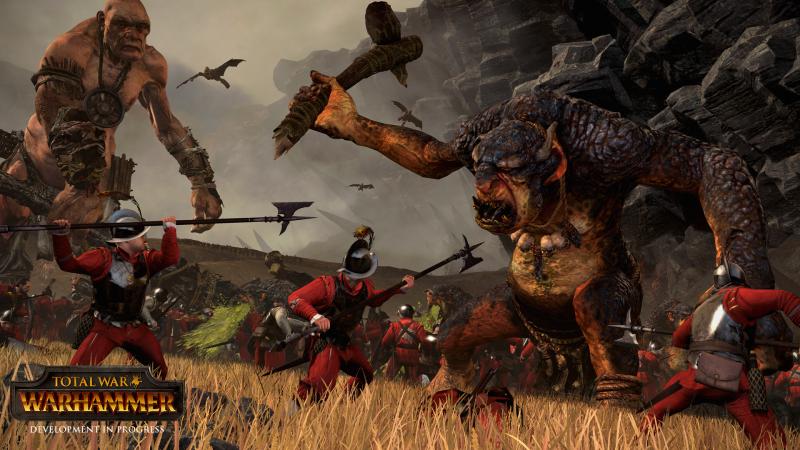 Troll fighting in Total War: Warhammer.