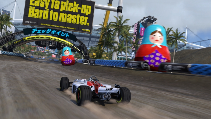 Trackmania lets you drive up and down walls.