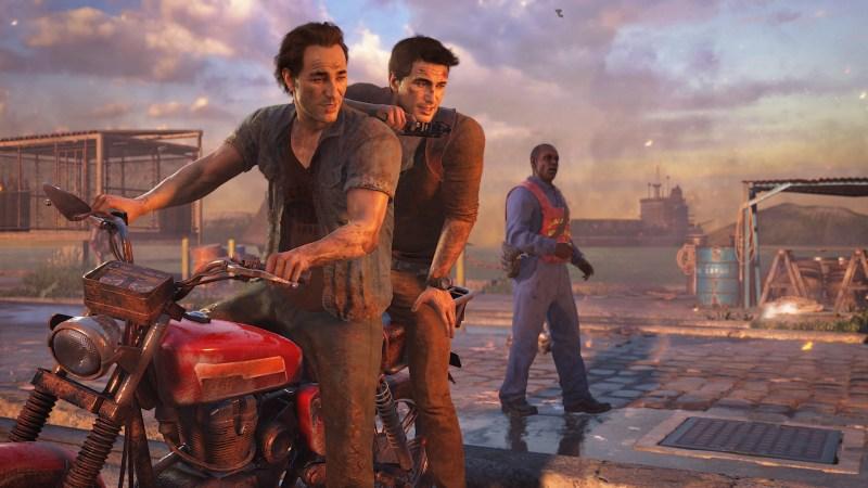 Uncharted 4's Sam and Nathan Drake.