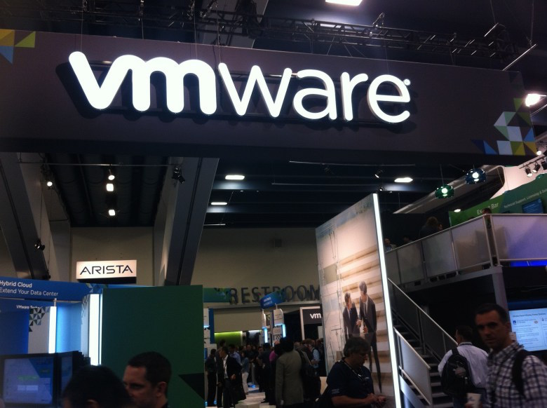 On the exhibition floor at VMware's VMworld conference in San Francisco on Aug. 14, 2014.