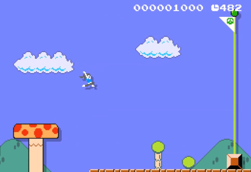 I want to play as the Wii Fit Trainer in Super Mario Bros.!