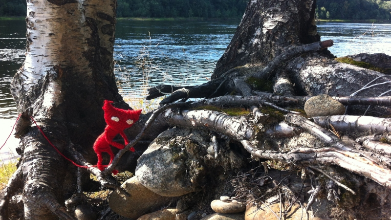 Yarny from the original pitch images Martin Sahlin put together in the woods.