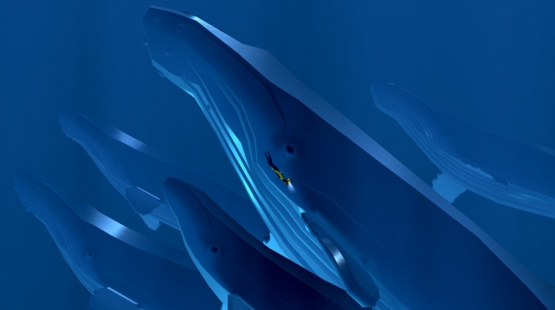 You can hitch a ride on whales in Abzu.