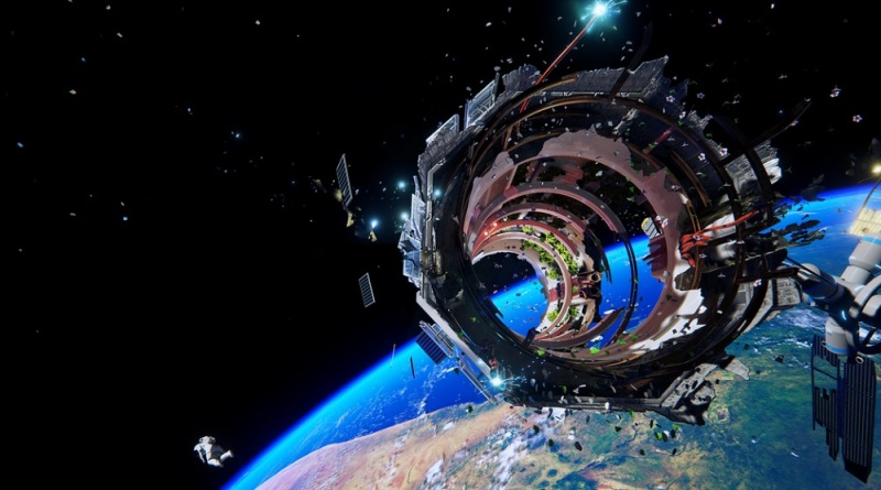 Your space suit is leaking air, and your space ship is toast in Adr1ft.