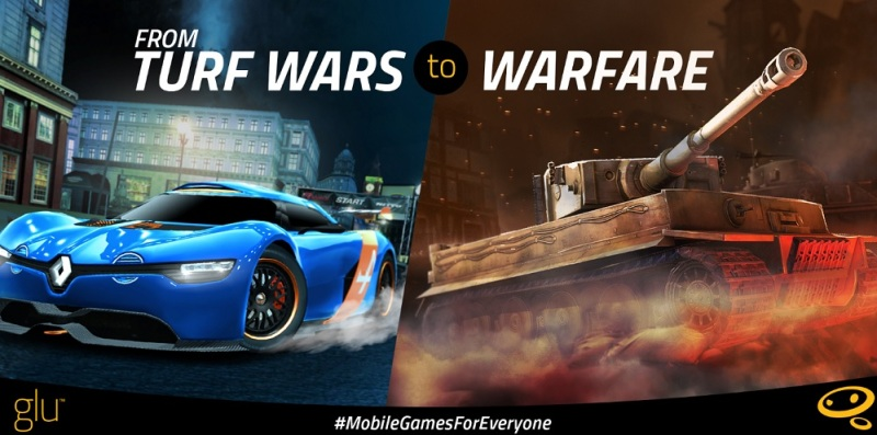 Glu Mobile games range from racing to combat titles.