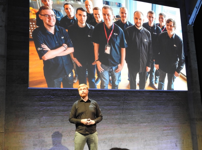 Hilmar Veigar Pétursson, CEO of CCP Games, and the team that made Eve: Valkyrie.