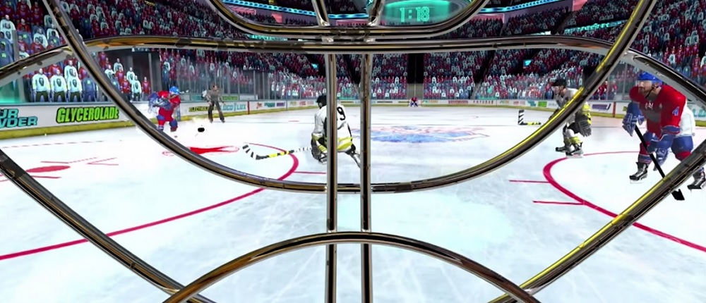 The hockey game in VR Sports Challenge is a lot of fun.