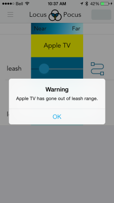 Oh no! I've strayed too far from my Apple TV! Photo by Simon Cohen.