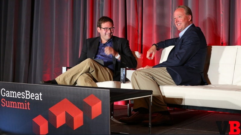 Ian Sherr of Cnet and Mike Gallagher of the ESA at GamesBeat Summit.