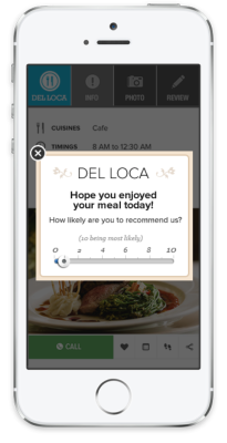 An example of an in-app message