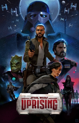 Uprising even gets its own Star Wars-style poster.